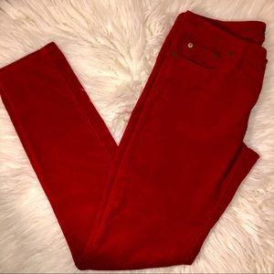 Ralph Lauren sport red corduroy valentine red pant
